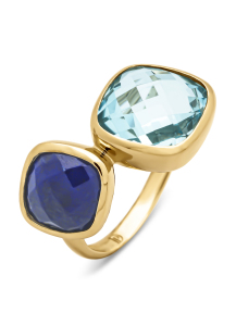 Diamond Point Geelgouden ring, 4.75 ct topaas, Earth