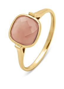 Diamond Point Geelgouden ring, 1.75 ct chalcedoon, Earth