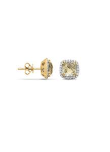 Diamond Point Ohrringe in 14K Gelbgold