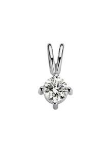 Diamond Point Witgouden solitair hanger, 0.17 ct diamant, Groeibriljant