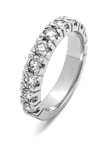 Diamond Point Groeibriljant eternity ring in 18 karat white gold, 1.43 ct.