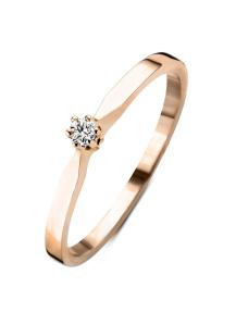 Diamond Point Roségouden solitair ring, 0.02 ct diamant, Groeibriljant