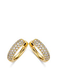 Diamond Point Geelgouden oorsieraden, 0.82 ct diamant, Caviar