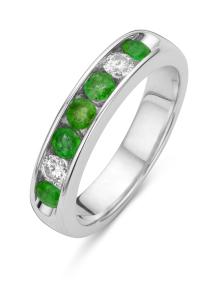 Diamond Point Witgouden ring, 0.21 ct diamant, Majestic