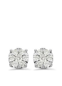 Diamond Point Witgouden oorsieraden, 0.45 ct diamant, Enchanted