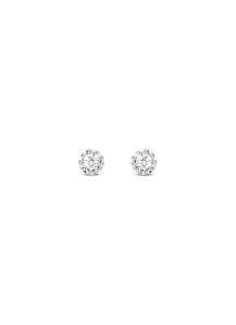 Diamond Point Witgouden oorsieraden, 0.06 ct diamant, Joy