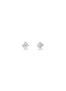 Diamond Point Witgouden oorsieraden, 0.08 ct diamant, Joy