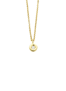 Diamond Point Birthstones pendant in 14 karat yellow gold