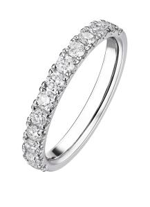 Diamond Point Witgouden ring, 1.01 ct diamant, Wedding