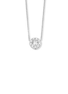 Diamond Point Witgouden hanger, 0.65 ct diamant, Hearts & Arrows