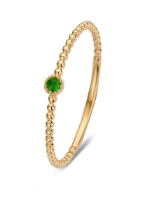 Diamond Point Geelgouden ring, 0.04 ct smaragd, Joy