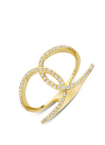 Diamond Point Like a star ring in 14 karat yellow gold