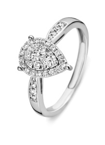 Diamond Point Witgouden ring, 0.36 ct diamant, Enchanted