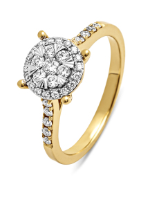 Diamond Point Gouden ring, 0.34 ct diamant, Enchanted