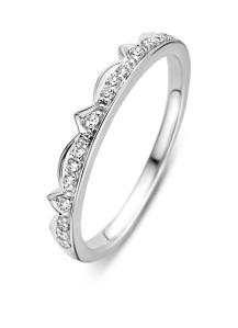 Diamond Point Witgouden ring, 0.11 ct diamant, Since 1904
