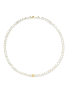 Diamond Point Rivièra necklace in 18 karat yellow gold
