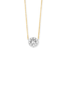 Diamond Point Gouden hanger, 0.21 ct diamant, Hearts & Arrows
