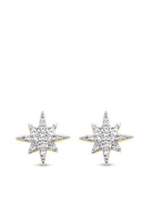 Diamond Point Gouden oorsieraden, 0.10 ct diamant, Cosmic