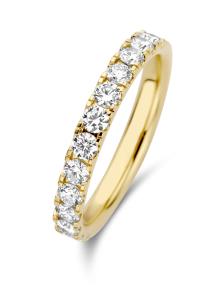 Diamond Point Geelgouden ring, 0.76 ct diamant, Wedding