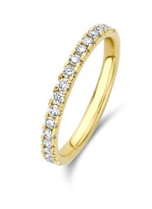 Diamond Point Geelgouden ring, 0.33 ct diamant, Wedding