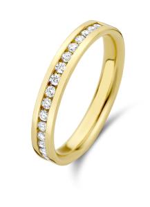 Diamond Point Geelgouden ring, 0.27 ct diamant, Wedding