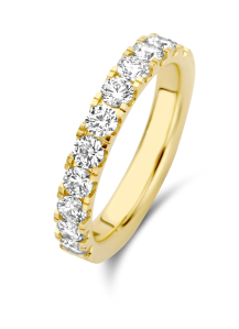 Diamond Point Geelgouden ring, 1.01 ct diamant, Wedding