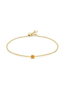 Diamond Point Geelgouden armband, 0.10 ct madeira citrien, Joy