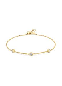 Diamond Point Geelgouden armband, 0.18 ct diamant, Joy