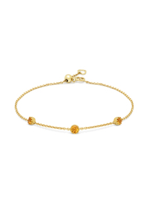 Diamond Point Geelgouden armband, 0.29 ct madeira citrien, Joy