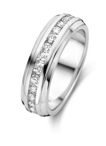Diamond Point Witgouden ring, 0.49 ct diamant, Wedding