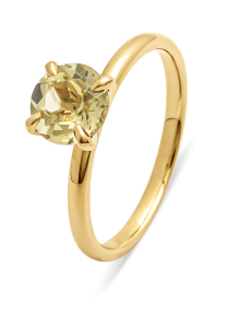 Diamond Point Ring in 14 karat yellow gold
