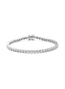 Diamond Point Witgouden armband, 2.04 ct diamant, Tennis bracelet