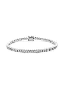 Diamond Point Witgouden armband, 2.01 ct diamant, Tennis bracelet