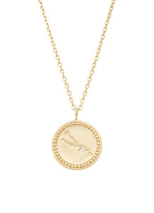 Diamond Point Cosmic pendant in 14 karat yellow gold