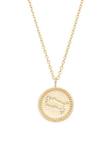 Diamond Point Cosmic pendant in 14 karat yellow gold