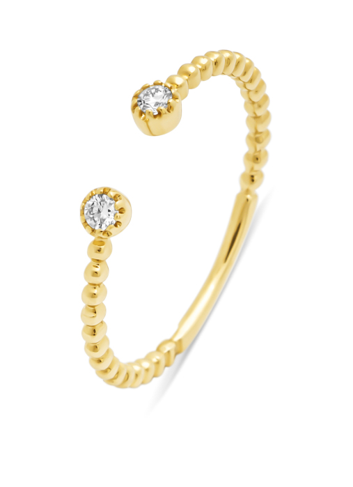 Diamond Point Geelgouden ring, 0.06 ct diamant, Joy