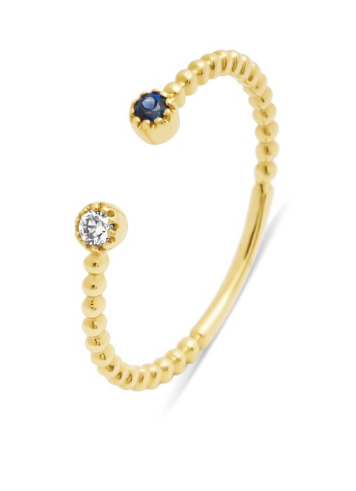 Diamond Point Geelgouden ring, 0.05 ct blauwe saffier, Joy
