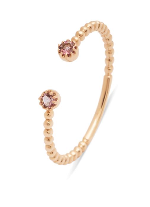 Diamond Point Roségouden ring, 0.10 ct roze toermalijn, Joy