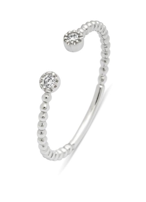 Diamond Point Witgouden ring, 0.06 ct diamant, Joy