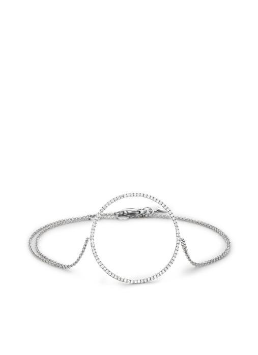 Diamond Point Uptown witgouden hand chain