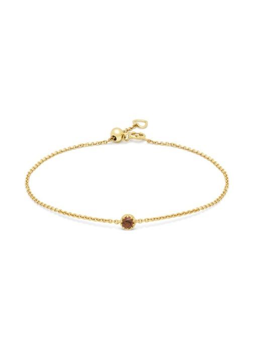 Diamond Point Geelgouden armband, 0.13 ct granaat, Joy