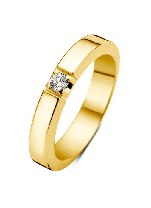 Diamond Point Groeibriljant eternity ring in 18 karat yellow gold, 0.07 ct.