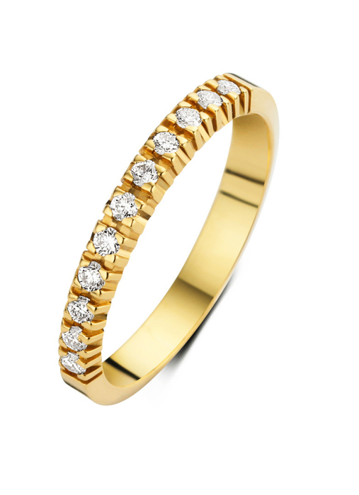 Diamond Point Groeibriljant Memoire Ring in 18K Gelbgold, 0.22 ct.