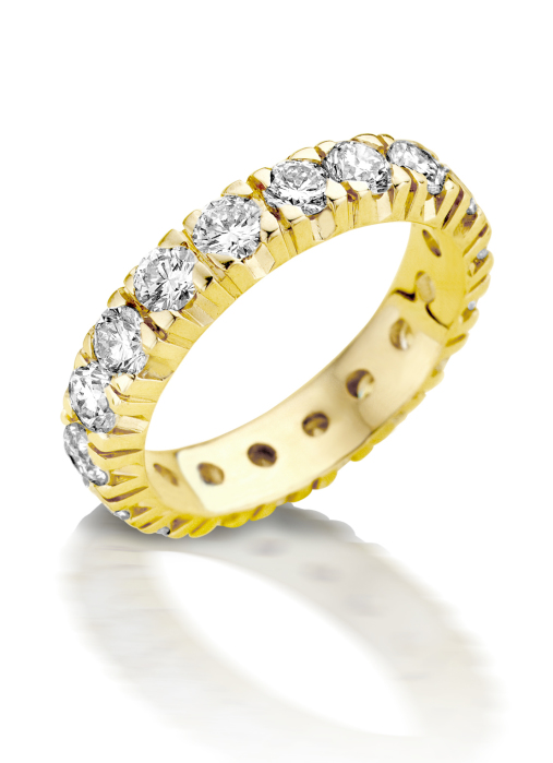 Diamond Point Geelgouden alliance groeibriljant ring, 0.65 ct. 0.65 ct diamant Groeibriljant
