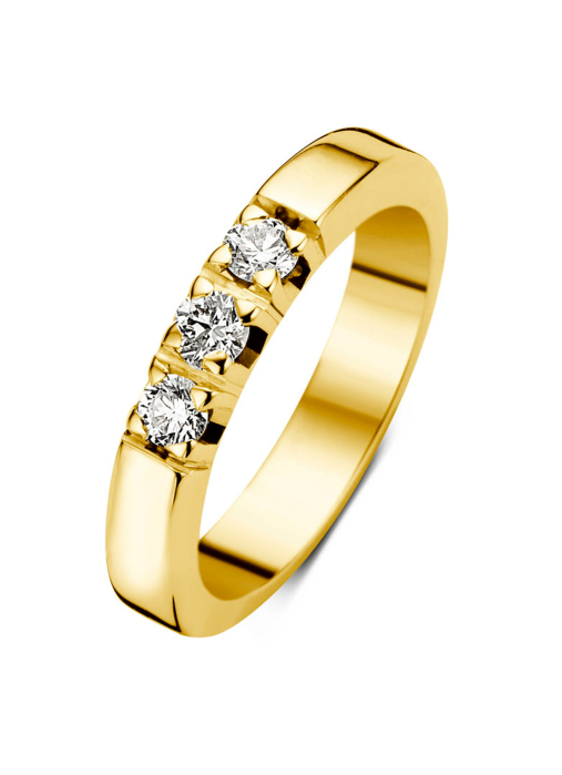 Diamond Point Geelgouden alliance ring, 0.30 ct diamant, Groeibriljant
