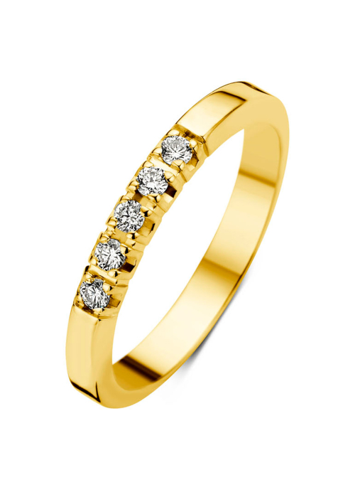 Diamond Point Groeibriljant eternity ring in 18 karat yellow gold, 0.10 ct.