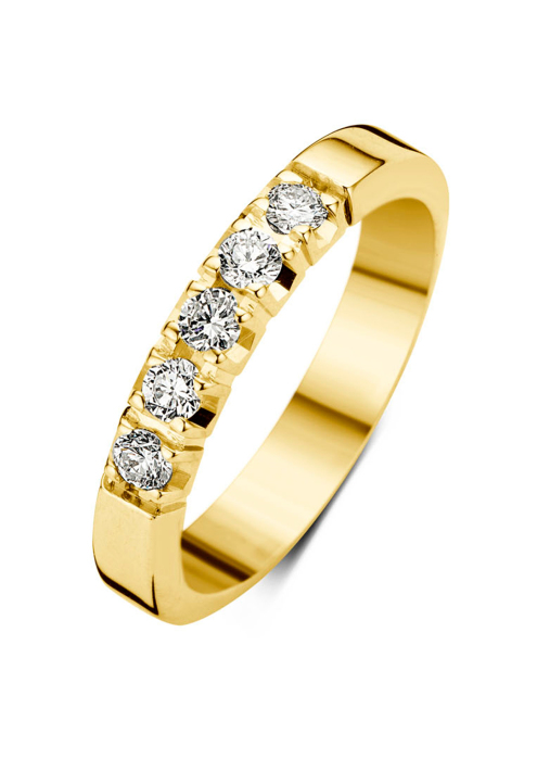 Diamond Point Groeibriljant eternity ring in 18 karat yellow gold, 0.25 ct.