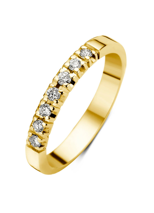 Diamond Point Geelgouden alliance ring, 0.21 ct diamant, Groeibriljant