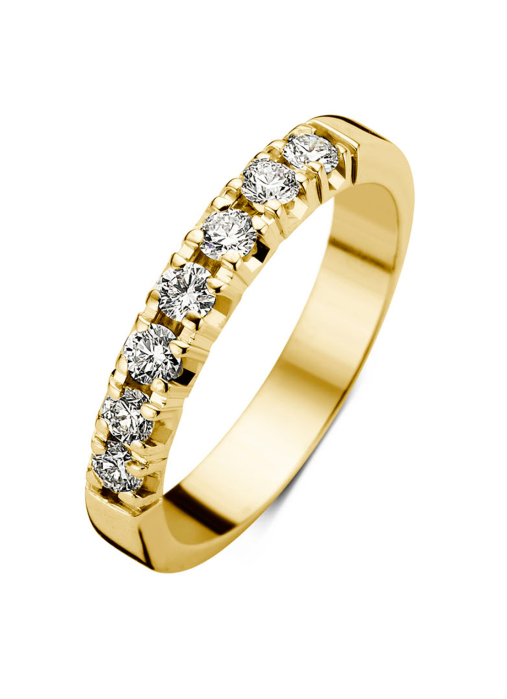 Diamond Point Geelgouden alliance groeibriljant ring, 0.35 ct. 0.35 ct diamant Groeibriljant