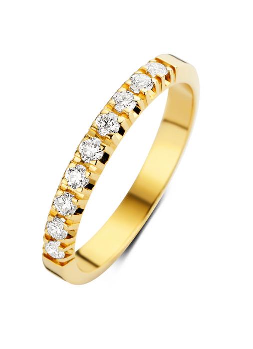 Diamond Point Groeibriljant Memoire Ring in 18K Gelbgold, 0.27 ct.